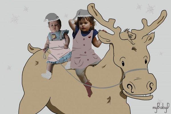 Hermanas en 3 dibujos temáticos